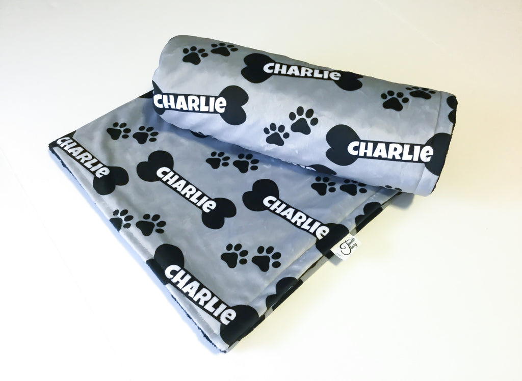 """Dog/Pet""- Personalized Double Sided Minky Blankets"