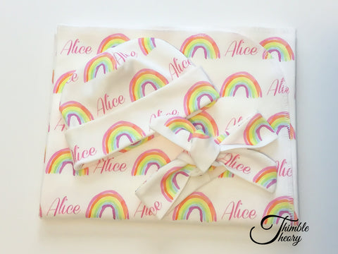 """Rainbows""- Newborn Set"