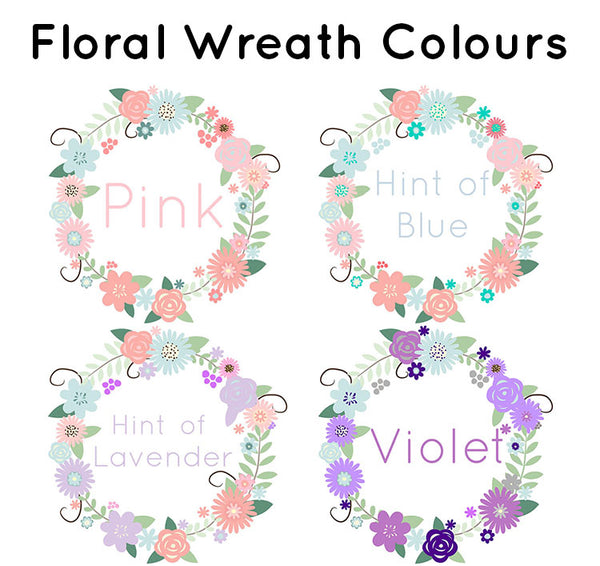 """Floral Wreath""- Welcome Home Baby Newborn Set"