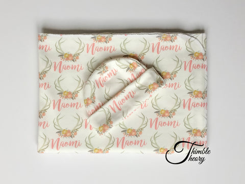 """Floral Antler""- Welcome Home Baby Newborn Set"