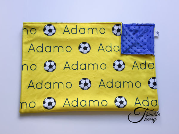 """Soccer""- Personalized Double Sided Blanket"