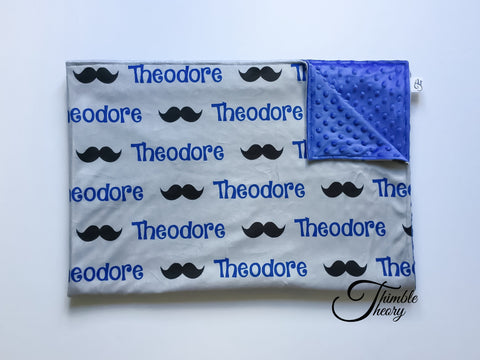 """Moustache""- Personalized Double Sided Blanket"