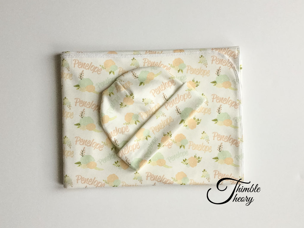 """Peonies""- Welcome Home Baby Newborn Set"