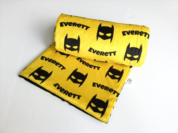"""Super Hero""- Personalized Double Sided Blanket"