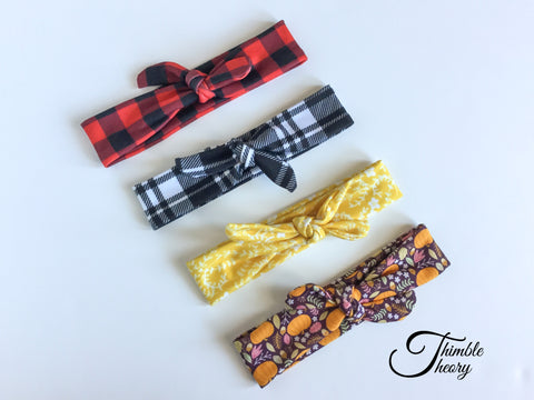 """Knotted"" Baby Headbands"