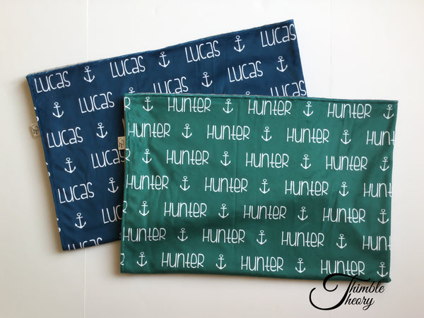 """Anchor""- Personalized Minky Blanket"