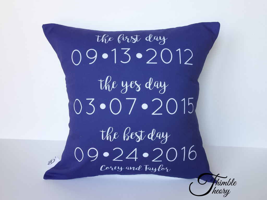 Our Best Dates Pillow