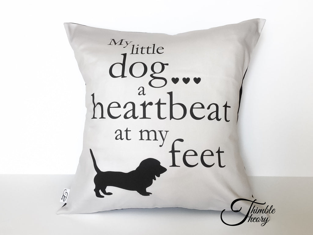 My Doga Heartbeat At My Feet Pillow Thimble Theory