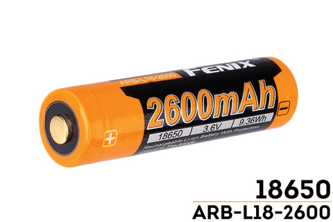 Fenix ARB-L18-2600 Rechargeable 18650 Li-ion Battery