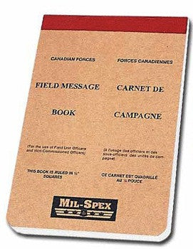 Mil-Spex Canadian Forces Field Message Book