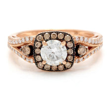 Load image into Gallery viewer, 1.16 Carats Splendid Natural Diamond 14K Solid Rose Gold Band Ring