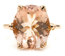 Load image into Gallery viewer, 4.08 Carats Natural Morganite and Diamond 14K Solid Rose Gold Ring