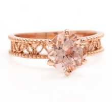 Load image into Gallery viewer, 1.70 Carats Exquisite Natural Morganite 14K Solid Rose Gold Ring