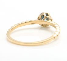 Load image into Gallery viewer, Beautiful Natural Blue Zircon 14K Solid Yellow Gold Ring