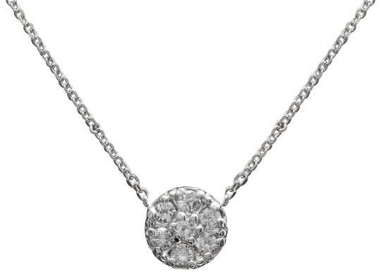 0.35Ct Natural Diamond 14K Solid White Gold Necklace Pendant