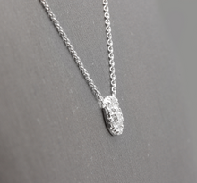 Load image into Gallery viewer, 0.35Ct Natural Diamond 14K Solid White Gold Necklace Pendant