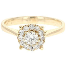 Load image into Gallery viewer, Splendid 0.45 Carats Natural Diamond 14K Solid Yellow Gold Band Ring