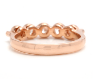 Splendid 0.85 Carats Natural Diamond 14K Solid Rose Gold Ring