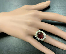 Load image into Gallery viewer, 8.50 Carats Natural Very Nice Looking Tourmaline and Diamond 14K Solid Yellow Gold Ring
