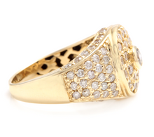 Load image into Gallery viewer, 2.75Ct Natural Diamond 14K Solid Yellow Gold Men's Ring