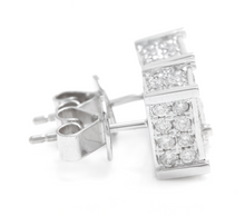 Load image into Gallery viewer, Exquisite 1.40 Carats Natural Diamond 14K Solid White Gold Stud Earrings