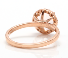 Load image into Gallery viewer, 2.00 Carats Natural Morganite and Diamond 14K Solid Rose Gold Ring