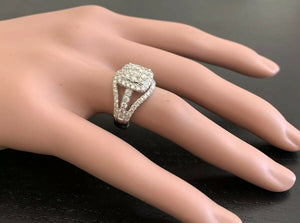 Splendid 1.50 Carats Natural Diamond 14K Solid White Gold Ring