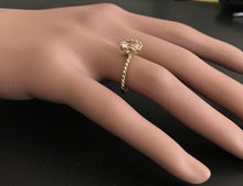 Load image into Gallery viewer, 2.00 Carats Exquisite Natural Morganite 14K Solid Yellow Gold Ring