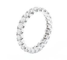 Load image into Gallery viewer, 1.70 Carats Natural Diamond 14K Solid White Gold Eternity Ring