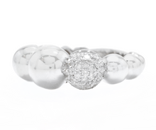 Load image into Gallery viewer, Splendid 0.32 Carats Natural Diamond 14K Solid White Gold Ring