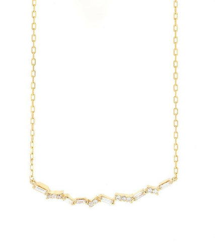 0.40Ct Splendid 14k Solid Yellow Gold Chain Necklace