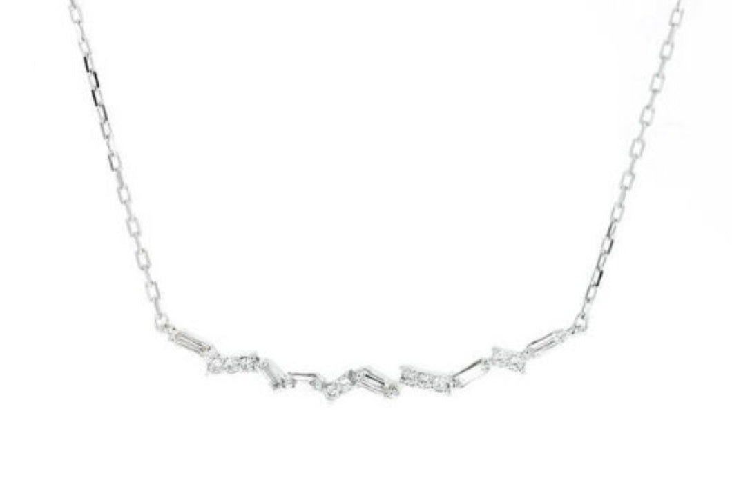 0.40Ct Splendid 14k Solid White Gold Chain Necklace