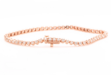 Load image into Gallery viewer, 3.00 Carats Natural Diamond 14k Solid Rose Gold Bracelet