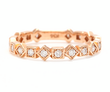 Load image into Gallery viewer, 0.40Ct Natural Diamond 14K Solid Rose Gold Band Ring