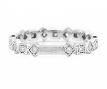Load image into Gallery viewer, 0.40Ct Natural Diamond 14K Solid White Gold Band Ring