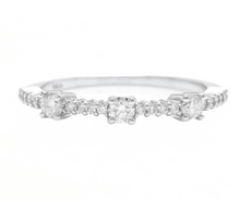 Load image into Gallery viewer, 0.45Ct Natural Diamond 14K Solid White Gold Band Ring