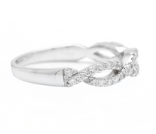 Load image into Gallery viewer, 0.50Ct Natural Diamond 14K Solid White Gold Band Ring