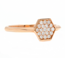 Load image into Gallery viewer, 0.30Ct Natural Diamond 14K Solid Rose Gold Band Ring