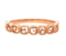 Load image into Gallery viewer, Natural Diamond 14K Solid Rose Gold Band Ring