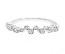 Load image into Gallery viewer, Natural Diamond 14K Solid White Gold Band Ring