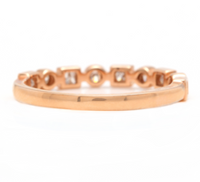 Load image into Gallery viewer, 0.35Ct Natural Diamond 14K Solid Rose Gold Band Ring