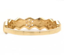 Load image into Gallery viewer, 0.20Ct Natural Diamond 14K Solid Yellow Gold Band Ring