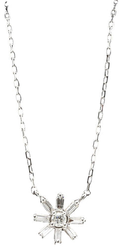 0.50Ct Stunning 14K Solid White Gold Diamond Necklace