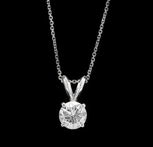 0.90ct Natural Diamond 14k Solid White Gold Pendant Necklace
