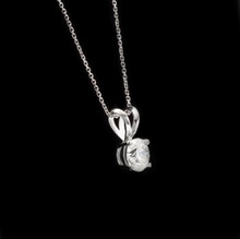 Load image into Gallery viewer, 0.90ct Natural Diamond 14k Solid White Gold Pendant Necklace
