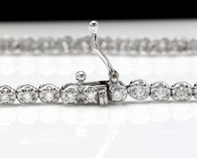 Load image into Gallery viewer, Very Impressive 1.15 Carats Natural Diamond 14K Solid White Gold Bracelet