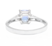 Load image into Gallery viewer, Natural Tanzanite and Diamond 14k Solid White Gold Ring