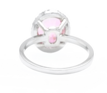 Load image into Gallery viewer, 2.45 Carats Natural Pink Topaz and Diamond 14k Solid White Gold Ring