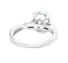 Load image into Gallery viewer, 3.14ct Natural Aquamarine & Diamond 14k Solid White Gold Ring