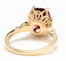 Load image into Gallery viewer, 3.68 Carats Natural Garnet and Diamond 14K Solid Yellow Gold Ring